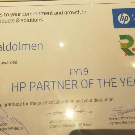 HP Partner of the year 2019