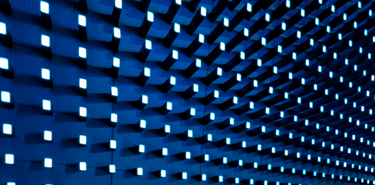 abstract blue blocks
